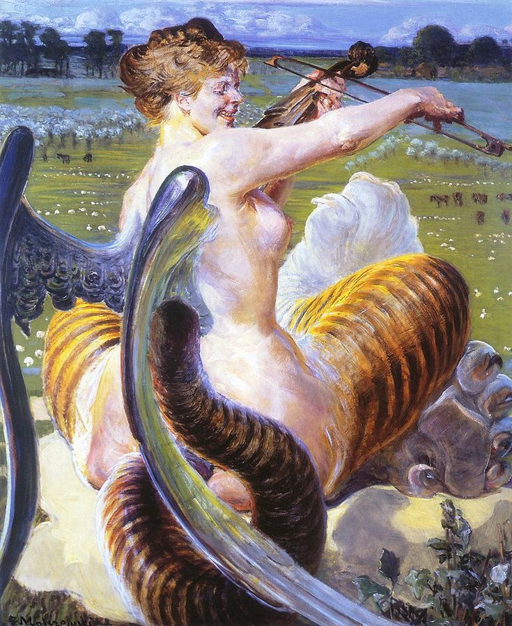 Allegro, by Jacek Malczewski - Symbolism