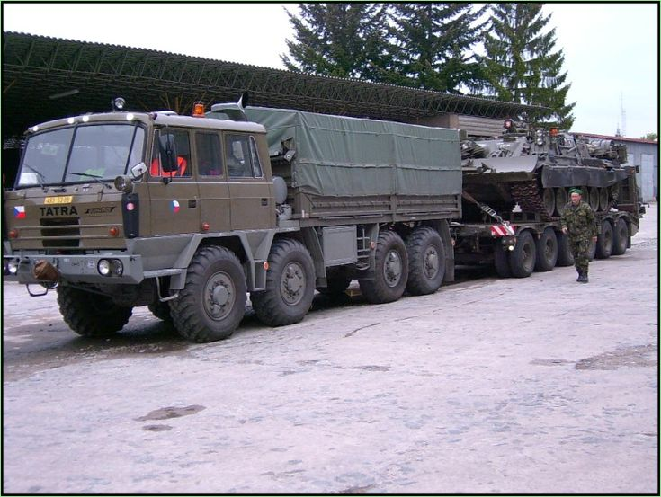 Czech Army Tatra 815 ballast tractor