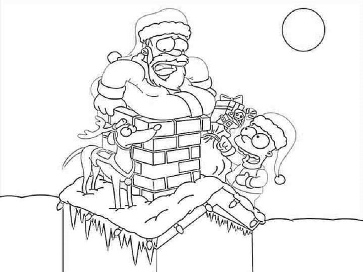 Coloring pages of the simpsons christmas coloring page for Tc bear coloring page