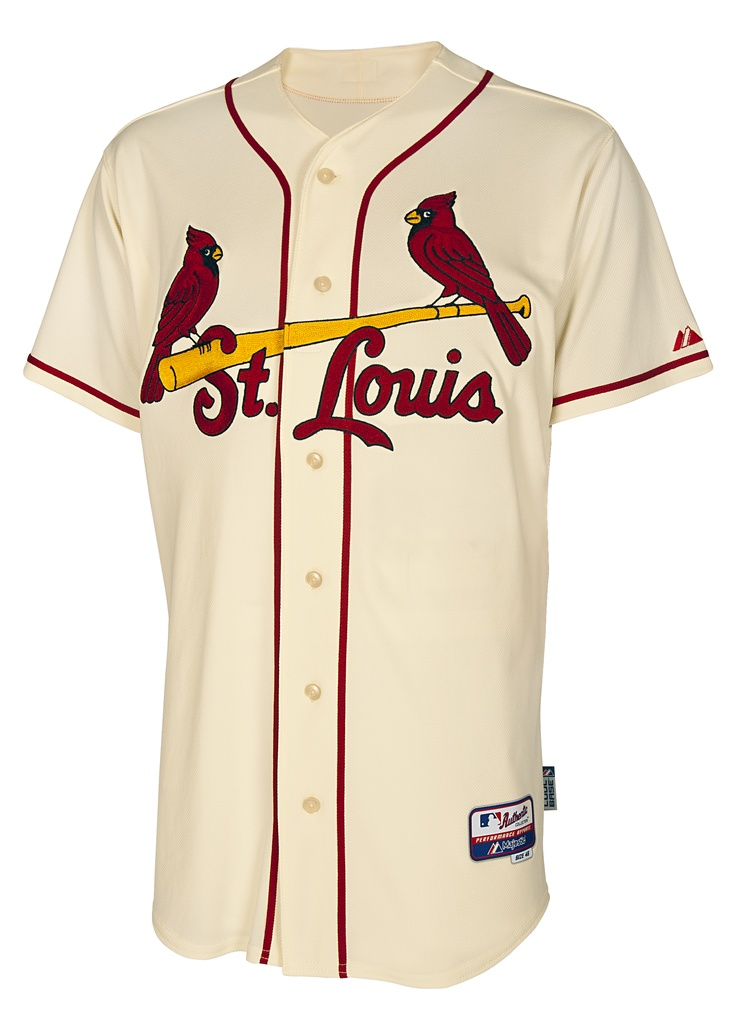 St. Louis Cardinals reveal a new jersey on Friday, November 16, 2012 and for the first time in over 80 years St. Louis will be on the St. Louis Cardinals jersey for Saturday home games.