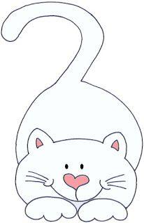 Desenholândia: Molde de gato para eva - Desenho de gato para pintar                                                                                                                                                      Mais