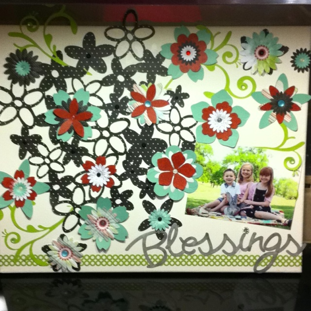 Crafts With Canvas And Scrapbook Paper
