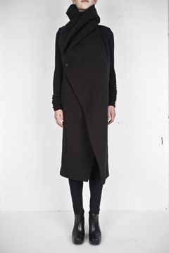 Rick Owens Lilies: Black Coats, Canadagoo Coats Wins, Fall Coats, Owens Coats, Long Coats, Owens Lilies, Rick Owens, Gorgeous Coats, Christmas Gifts