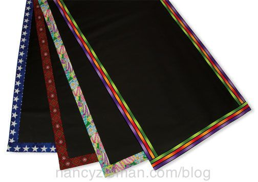 Write on table runner....make for banquets, parties. ....kids placemats?! :-)