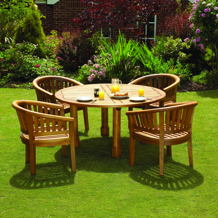 keep your garden furniture classic with a warm wood stain