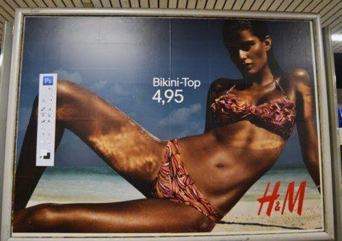Intervenção na Alemanha. HM fast-fashion.
