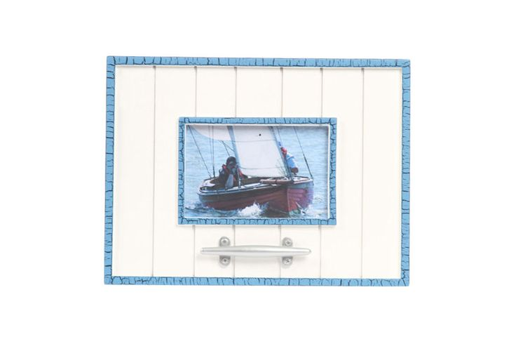 """Latitude 38 4"""" x 6"""" Nautical Wood Picture Frame with Cleat"""