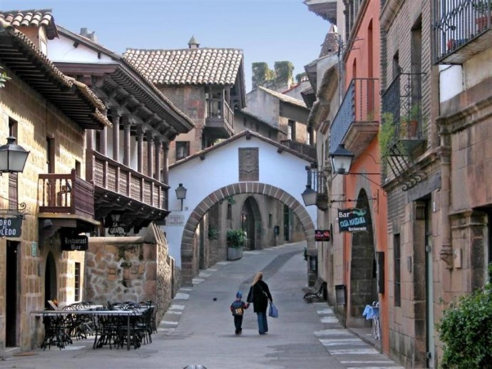 1978 Vakantie Spanje - Pueblo Español - Barcelona