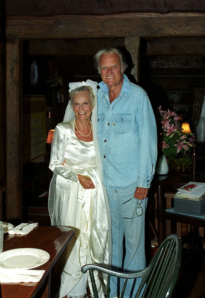 Billy and Ruth Graham celebrated 50 years of marriage in 1993, and Ruth tried on the handmade dress she wore as a young bride.