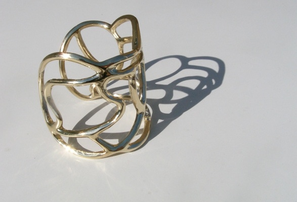 Lines collection , brass bracelet !