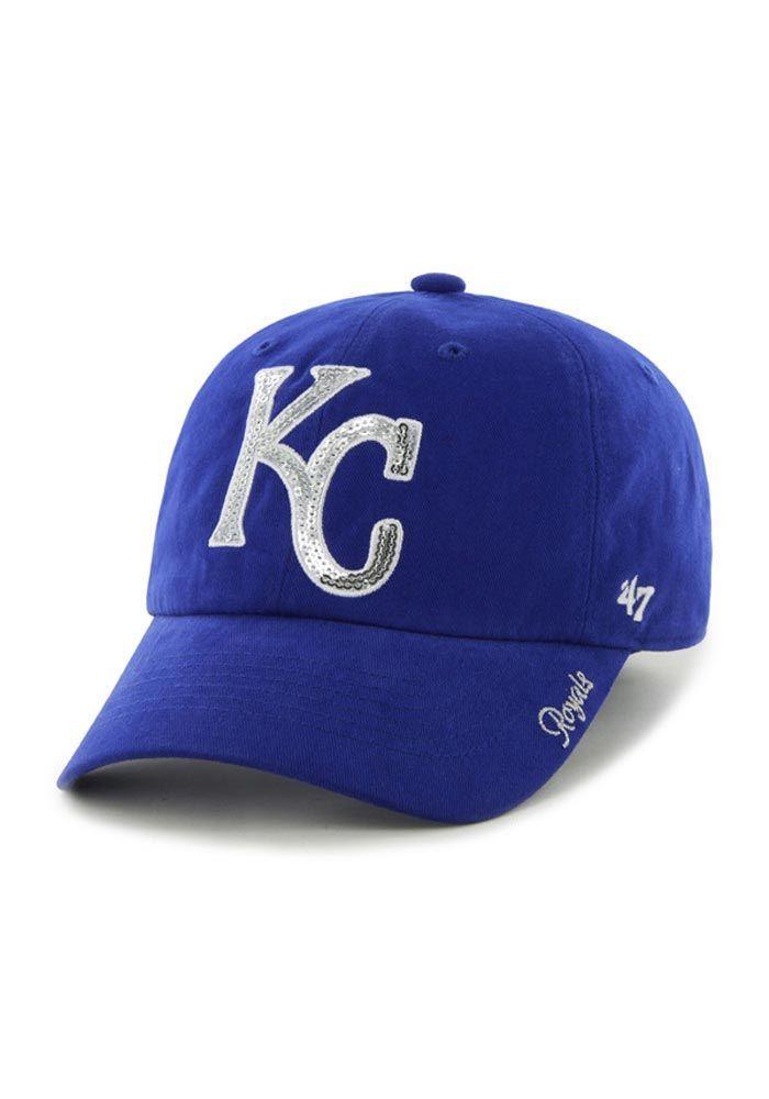 the best attitude d3d2b 8c7ea ... where to buy kansas city royals 47 brand hat womens blue sparkle hat  e23bd b79bd