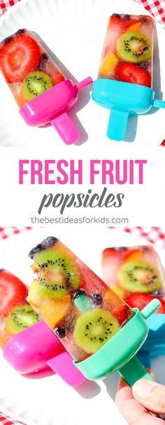 how to make fruit ice pops