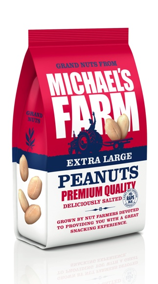 Michaels Farm nut packaging by Strømme Throndsen