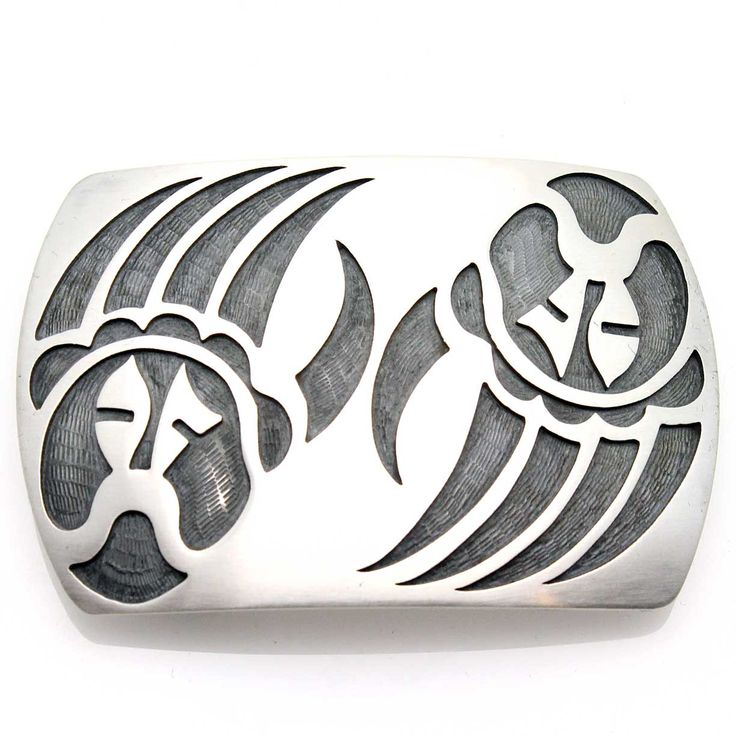 Check out the deal on Hopi Silver Belt Buckle - Bear Paws at Indian Traders