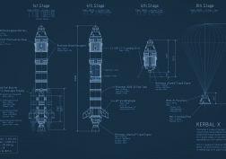 Rocket Kerbal X Blueprint Kerbal Space Program spaceship     d wallpaper