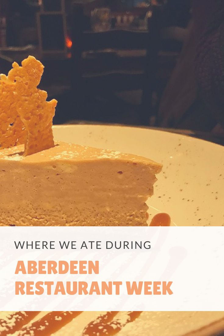 Aberdeen Restaurant Week 2018 | Where We Ate - review of Moonfish Café & Café Andaluz
