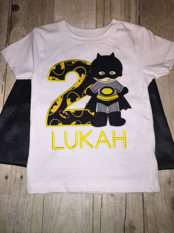 Custom Super Hero Batman Birthday Shirt With By ArtfullyAppliqued