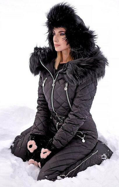 Naumi Black Down Suit Fashion Winter Jackets Und