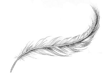 Light feather – temporary tattoo