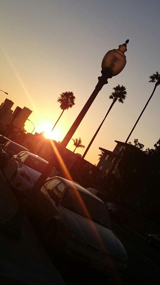 #sunset #sandiego #california #palm #street