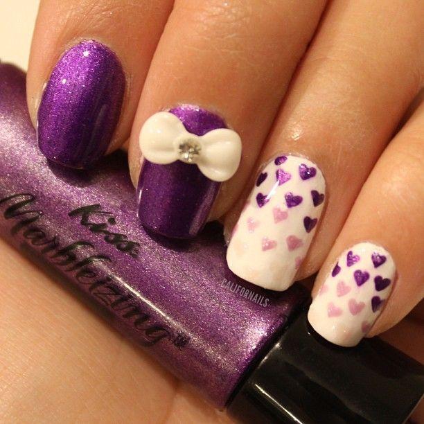 purple heart mani