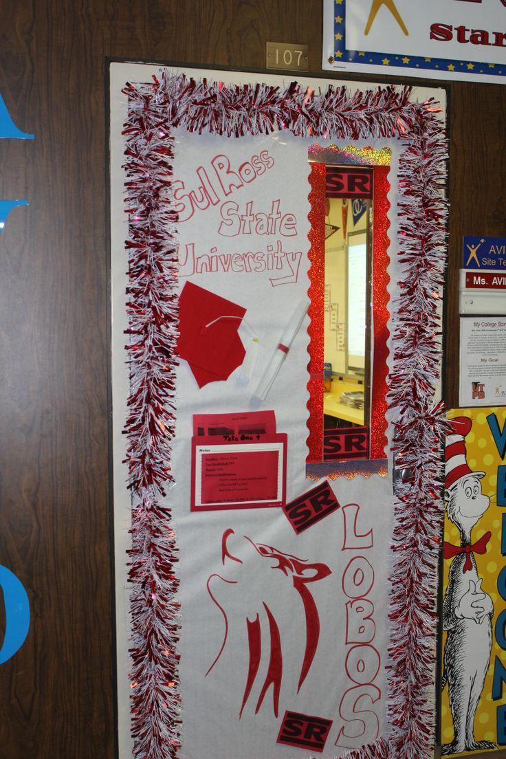 93 best college theme school year images on pinterest for Door design with highlighter