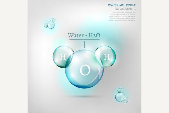 Water Molecule by Double Brain on @creativemarket