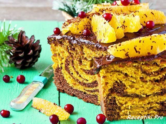 Тыквенные кексы - рецепт нарядного мраморного десерта