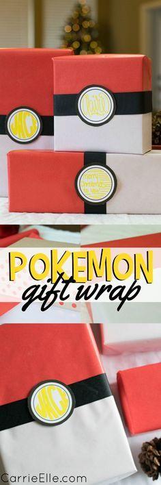 DIY Pokemon Gift Wrap and Pokemon Gift Ideas