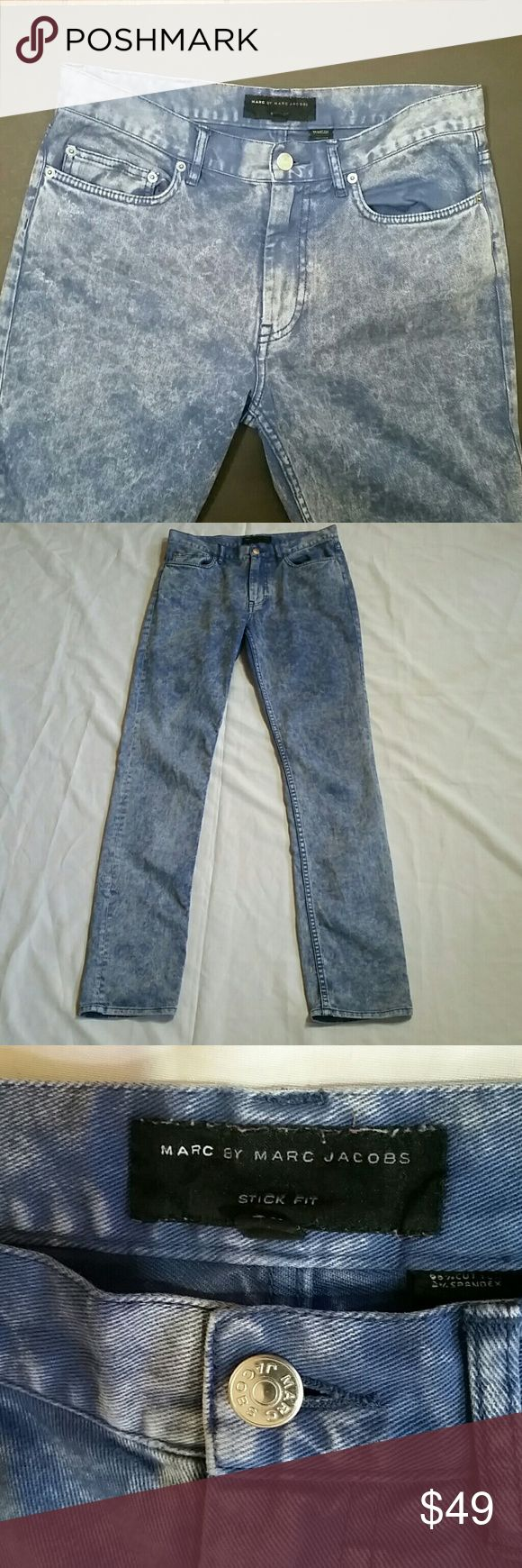 TALL Marc Jacobs Stick Fit Jeans sz 30 x 34 For my Tall curvy Chicas These accentuate and contours nicely Acid Wash 98% cotton 2%spandex  Waist 30  Inseam 34 Marc by Marc Jacobs Jeans Skinny