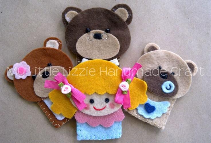 My Little Lizzie Handmade Craft: Lizzie@Storytime - Finger Puppets