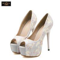 Бренд Dress13.5cm свадебные высокие каблуки женщин ну вечеринку туфли на высоком каблуке пип-носок обуви летний стиль zapatos mujer серый и розовый размер 34 - 39