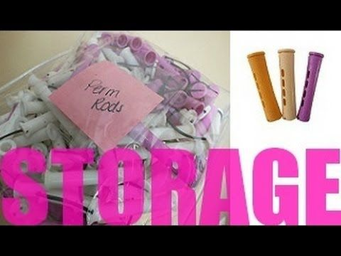Natural Hair Product Storage: Perm Rods