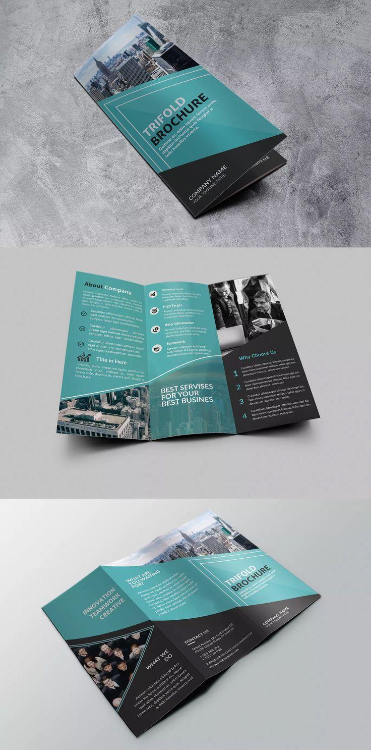 Best Business Tri Fold Brochure Template Psd Brochure Design Template Brochure Design Creative Brochure Design Layout