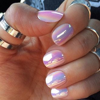 nail polish cute iridescent holographic nails girly dope korean fashion silver ring knuckle ring lilac metallic nails metallic pastel pink nail accessories glass nails glossy pretty color? pink purple nailpolish rainbow reflect ring opal shiny hipster pearl nail art holographic nail polish cool nails opi fake nails iridescence nail polish pretty nails pearlescent nail polish holoram hologram nails chrome nail polish retro spring trendy fashion blogger chrome pink chrome nails holographic…