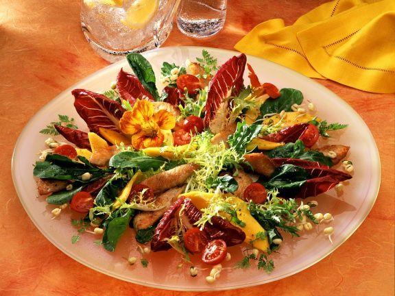 Salat pute orange