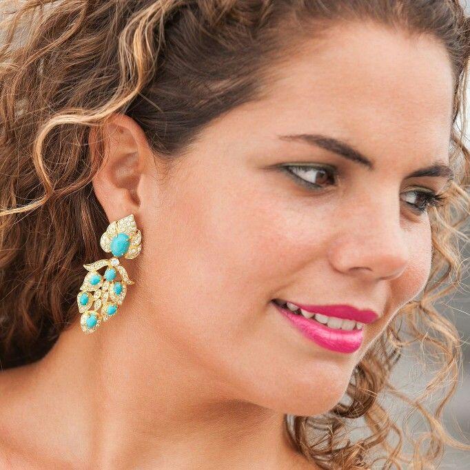 #aiyaana_jewellery #earrings #dazzlers #colourmeturquoise #silverjewels #sterlingsilver
