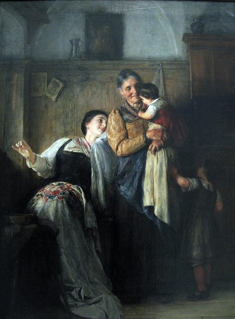 """Peek-a-Boo"" (1882) - Nikolaos Gyzis (1842-1901)"