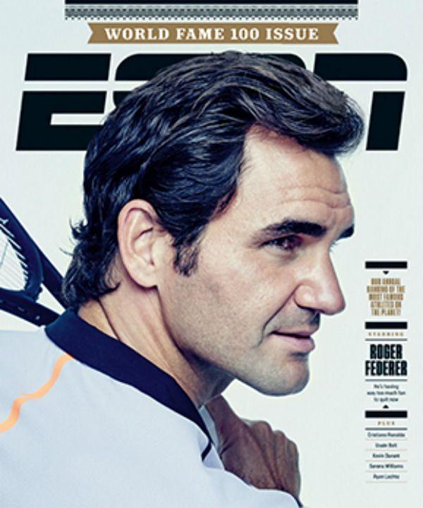 Roger Federer ranks No. 4 in the ESPN World Fame 100