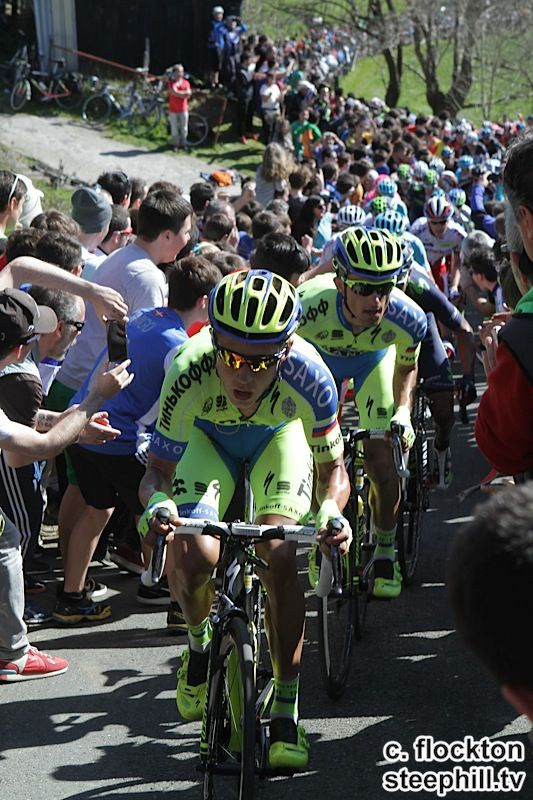 2015 vuelta-al-pais-vasco photos stage-03 Tinkoff Saxo a minute later with Majka 2nd here