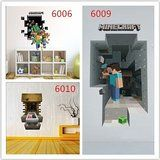 #3D #Minecraft wall decals ideal for #kids rooms and a great #Christmas #present #gift