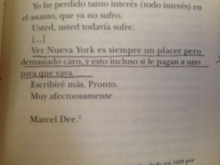 Marcel Duchamp sobre Nueva York