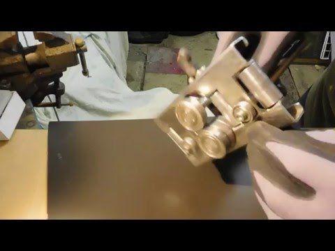 Откатка гребней для двойного фальца с помощью роликового листогиба