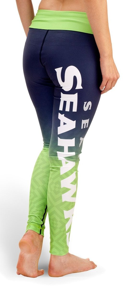 Support your team in style when you work out in these gradient leggings! We love the bright colors featured in this Seahawks number!