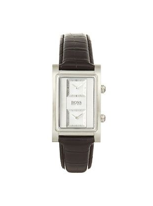 Hugo Boss Men's 1512191 Squared Black Stainless Steel Watch