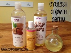 do it yourself eyelash growth serum. my eyelashes look and feel better after this!! www.couponswithq.com #frugal #beauty: Castor Oil, Eyelash Growth, Almond Oil, Eyelashes Longer, Vitamin E Oil, Growth Serum