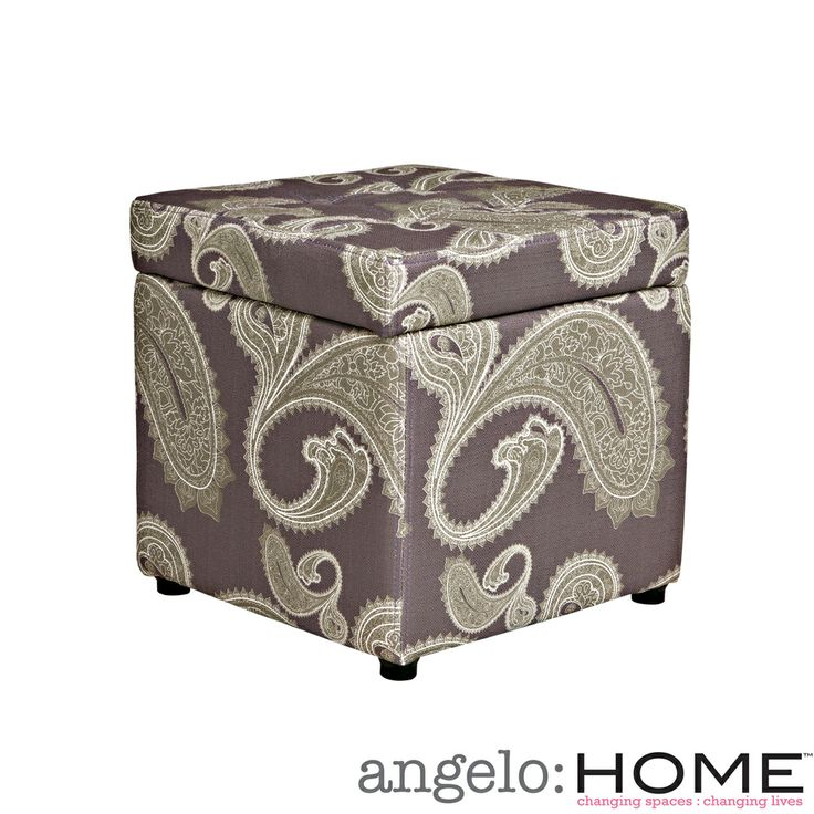 better living delphia paisley purple storage cube ottoman by better living - Storage Cube Ottoman