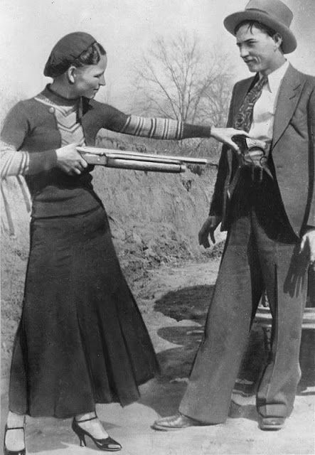 Bonny Parker and Clyde Barrow