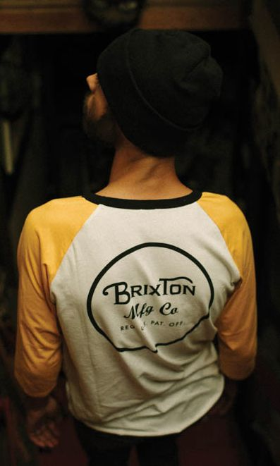 The Brixton Wheeler 3/4 Raglan Shirt is a three-quarter sleeve 60% cotton / 40% polyester jersey baseball tee with a custom Brixton screenprint at left chest and back.  Brixton Baseball Tee