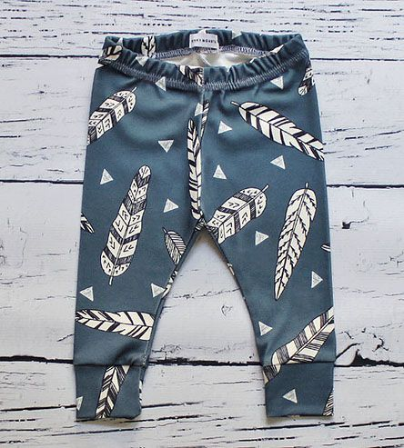 Feather Baby Leggings by Binky Monster. Can't handle the cuteness of these baby leggings/pants!
